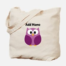 Modern Owl Purple Tote Bag
