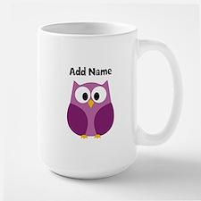 Modern Owl Purple Mugs