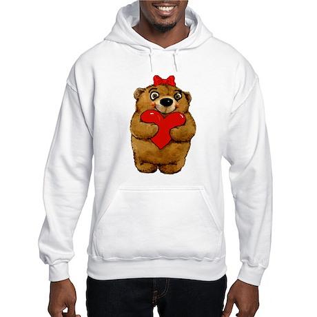 Valentine Teddy Bear Hooded Sweatshirt