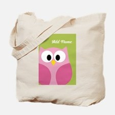 Green Pink Owl Tote Bag