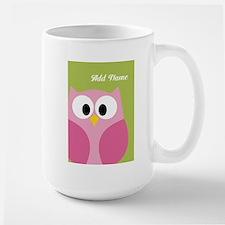 Green Pink Owl Mugs