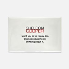 Sheldon Cooper's Happiness Quote Rectangle Magnet