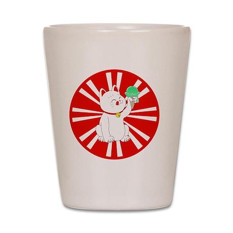 Maneki Neko Tokyo Cat Shot Glass