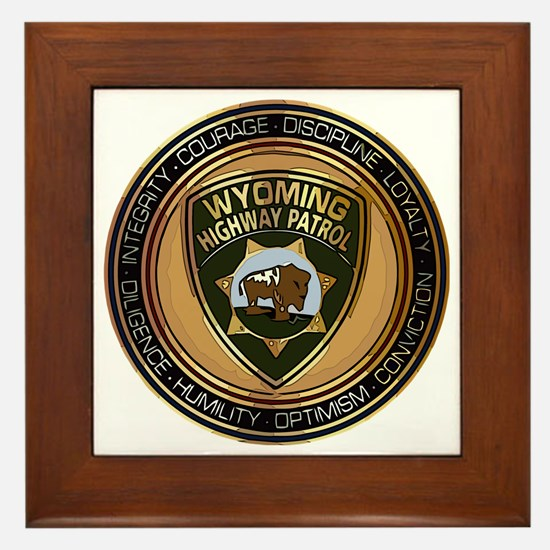 Wyoming HP logo Framed Tile