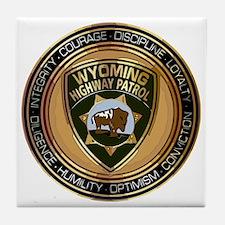 Wyoming HP logo Tile Coaster