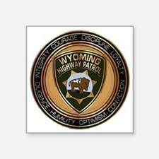 "Wyoming HP logo Square Sticker 3"" x 3"""