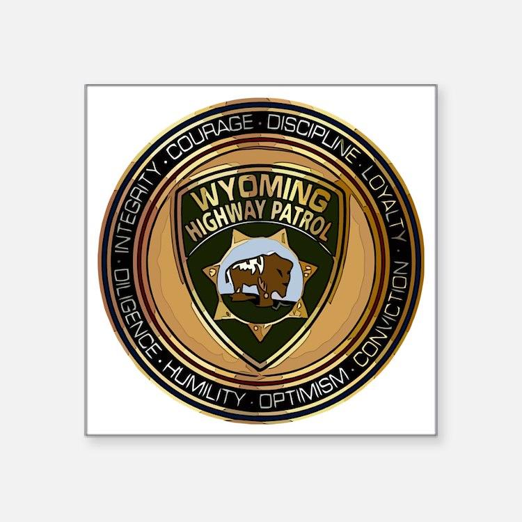 "Wyoming HP logo Square Sticker 3"" x 3"""