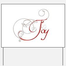 Joy! Yard Sign