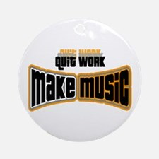 Make Music Ornament (Round)