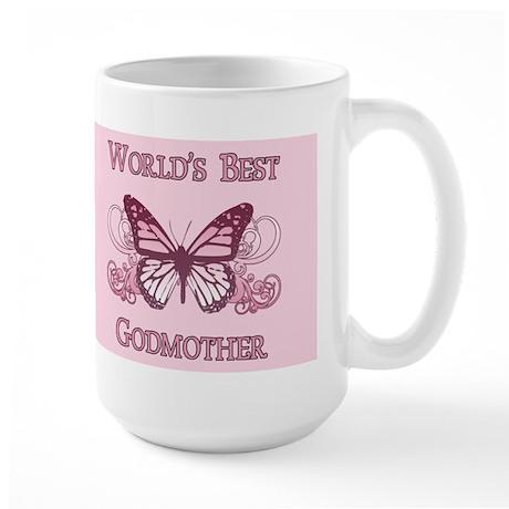 World's Best Godmother (Butterfly) Large Mug