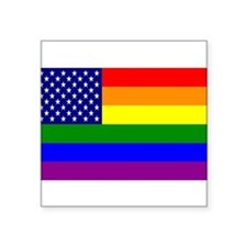USA Gay Pride Flag Rectangle Sticker