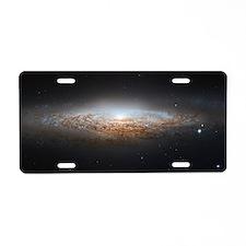 The UFO Galaxy Aluminum License Plate