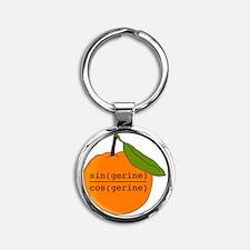 Tangerine Round Keychain