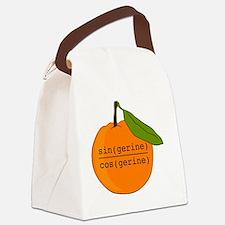Tangerine Canvas Lunch Bag