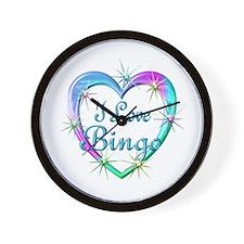 I Love Bingo Wall Clock