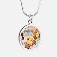 Thicklebit: Mothers Day larg Silver Round Necklace