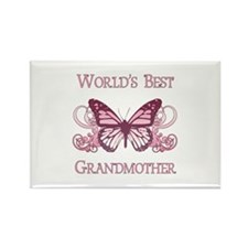 World's Best Grandmother (Butterfly) Rectangle Mag