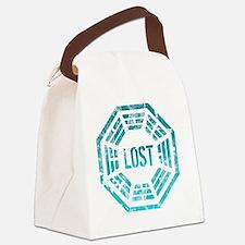 GrungeLostBlue Btn Canvas Lunch Bag