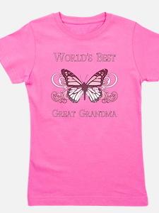 World's Best Great Grandma (Butterfly) Girl's Tee