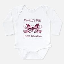 World's Best Great Grandma (Butterfly) Long Sleeve