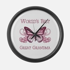 World's Best Great Grandma (Butterfly) Large Wall