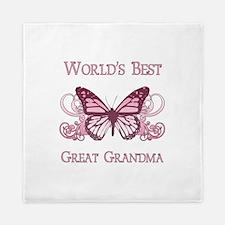 World's Best Great Grandma (Butterfly) Queen Duvet