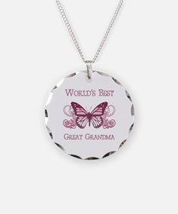 World's Best Great Grandma (Butterfly) Necklace