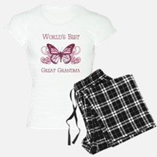 World's Best Great Grandma (Butterfly) Pajamas