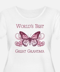World's Best Great Grandma (Butterfly) T-Shirt