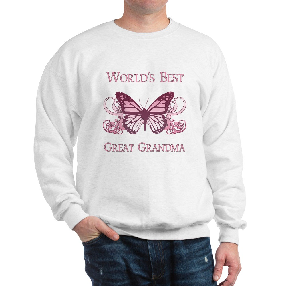 Sweatshirt Butterfly 1005993347 CafePress World/'s Best Great Grandma