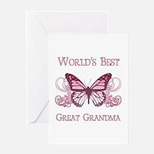 World's Best Great Grandma (Butterfly) Greeting Ca