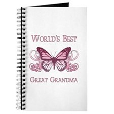 World's Best Great Grandma (Butterfly) Journal