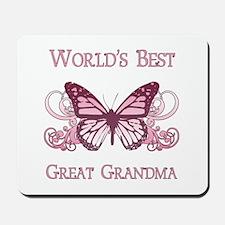 World's Best Great Grandma (Butterfly) Mousepad