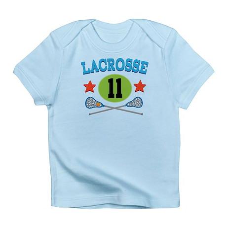 Lacrosse Player Number 11 Infant T-Shirt