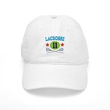 Lacrosse Player Number 11 Baseball Cap