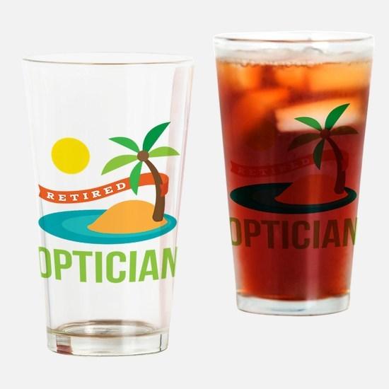 Retired Optician Drinking Glass