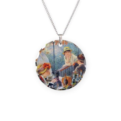 Renoir Boating Pillow Necklace Circle Charm