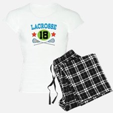 Lacrosse Player Number 18 Pajamas