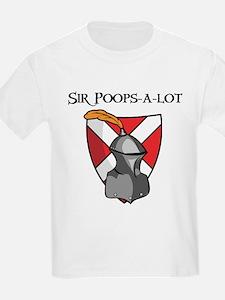 Sir Poops-a-lot Kids T-Shirt