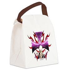 Skull Cross Canvas Lunch Bag