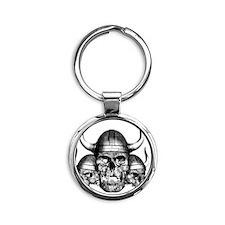 vikingskulls Round Keychain