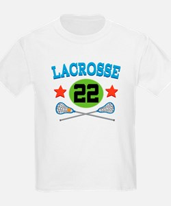 Lacrosse Player Number 22 T-Shirt