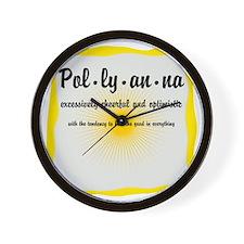 Pollyanna Definition Wall Clock