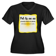 Pollyanna De Women's Plus Size Dark V-Neck T-Shirt