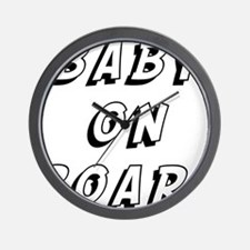 baby on board 9 Wall Clock