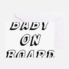 baby on board 9 Greeting Card