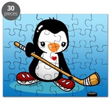 Ice Hockey Penguin Puzzle
