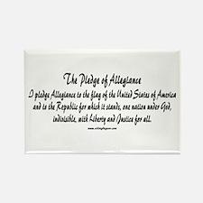 The Pledge of Allegiance Rectangle Magnet