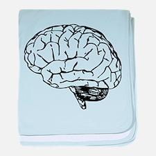 Brain baby blanket