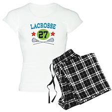 Lacrosse Player Number 27 Pajamas